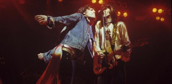 Rolling Stones w trakcie koncertu w 1975 roku