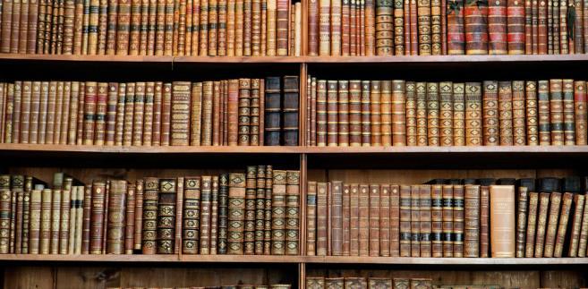 Stary księgozbiór w jednej z wiedeńskich bibliotek.