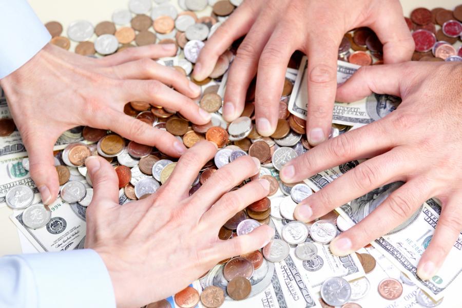 pieniądze, chciwość, dolary