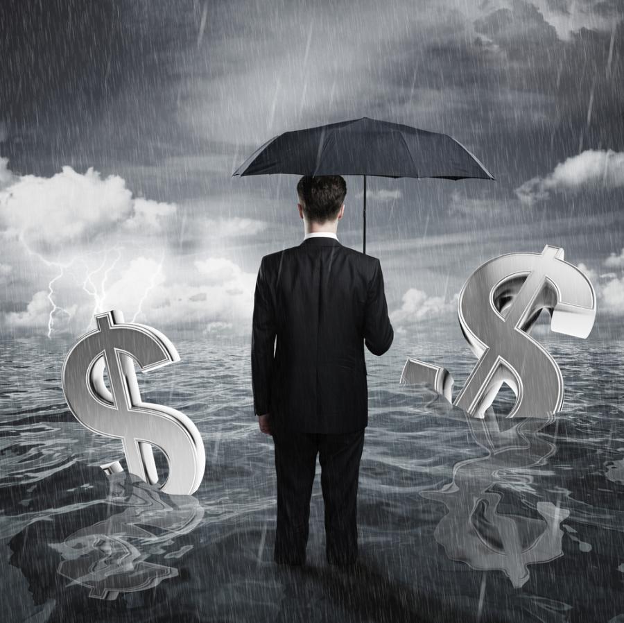 biznes, finanse, dolar, woda