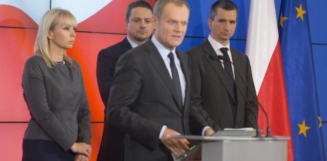 Elżbieta Bieńkowska, Rafał Trzaskowski i Mateusz Szczurek