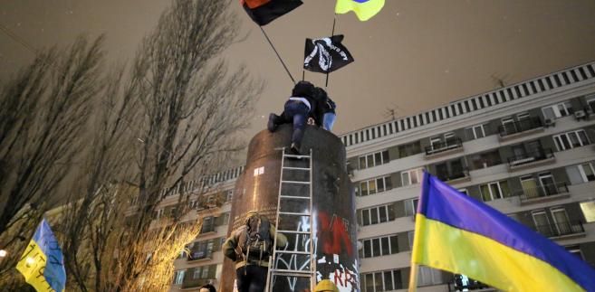Cokół, na którym stał pomnik Lenina w Kijowie