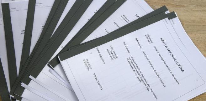 IPN udostępnił kolejne dokumenty z archiwum Kiszczaka