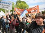 Manifestacja fizjoterapeutów przeciwko projektowi PiS dot. ich zawodu