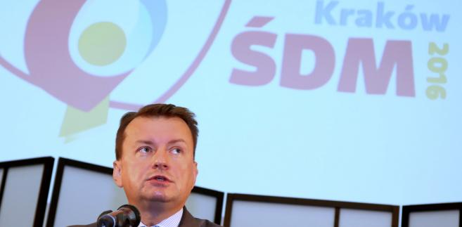 Błaszczak: Służby nie informują o zagrożeniu terrorystycznym w Polsce
