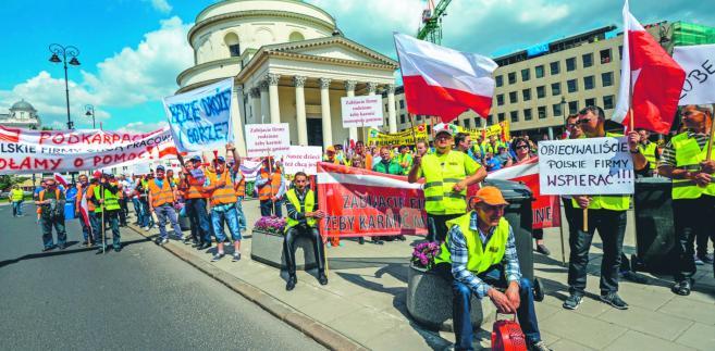 Ogólnopolska manifestacja pracowników i pracodawców z branży odpadowej. Warszawa, 10 maja 2016 r.