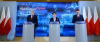 Premier Beata Szydło, minister obrony narodowej Antoni Macierewicz oraz minister spraw wewnętrznych i administracji Mariusz Błaszczak