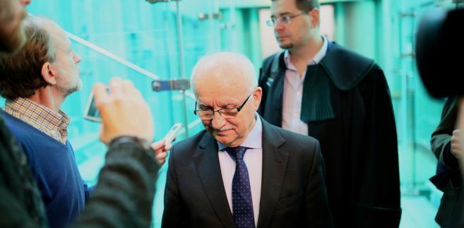 Były minister skarbu Emil Wąsacz w Sądzie Najwyższym w Warszawie