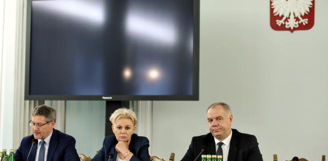Jacek Sasin, Krystyna Skowrońska i Janusz Cichoń,