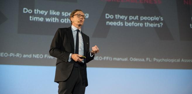 Alexander Nix z Cambridge Analytica podczas Forum IAB 2017.