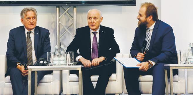 Od lewej: Piotr Woźniak, prezes zarządu PGNiG SA; Wojciech Jasiński, prezes zarządu PKN Orlen SA; Krzysztof Berenda, RMF FM