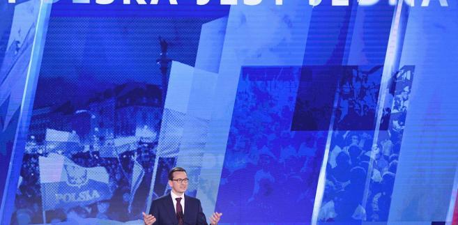 Morawiecki na sobotniej konwencji PiS