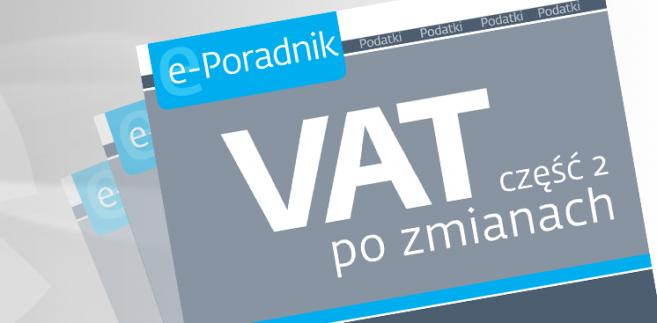 e-book: VAT część 2 po zmianach