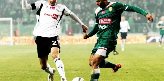 Legia Warsawa/Śląsk Wrocław. Artur Jędrzejczyk i Christian Daz