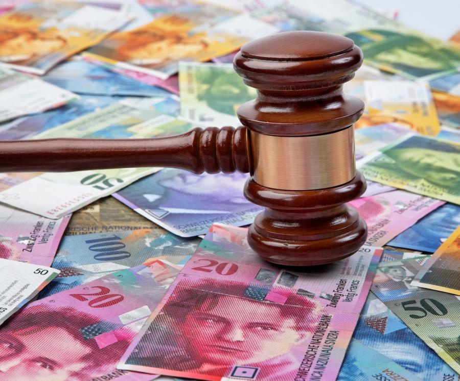 frank szwajcarski, prawo