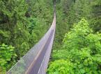 Park Capilano ze swoim słynnym wiszącym mostem położony jest w Vancouver.