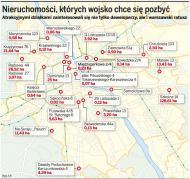 Warszawa chce dostać w prezencie wojskowe nieruchomości. Armia woli na nich zarobić
