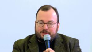 Stanisław Biełkowski rosyjski politolog, założyciel Instytutu Strategii Narodowej, Źródło:  Damir622/Wikimedia