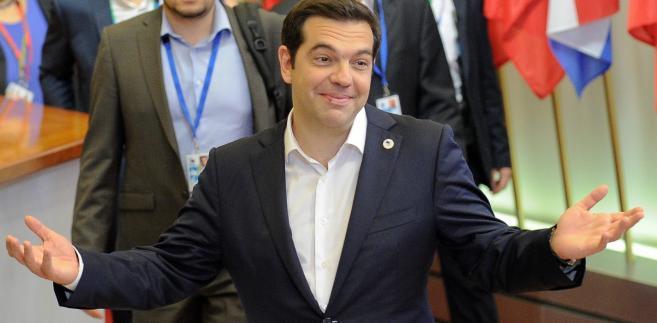Premier Aleksis Tspiras na szczycie Eurolandu