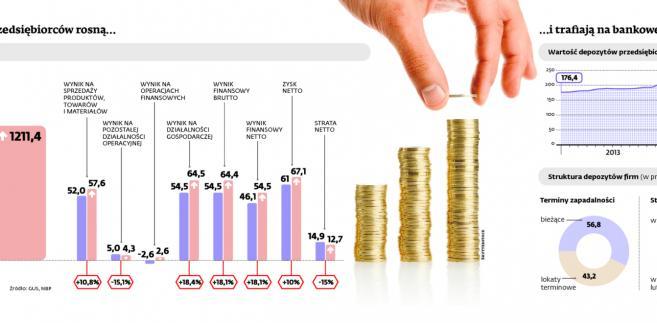 Zyski przedsiębiorców rosną