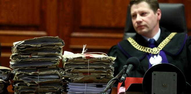 Sędzia Piotr Schab na sali rozpraw