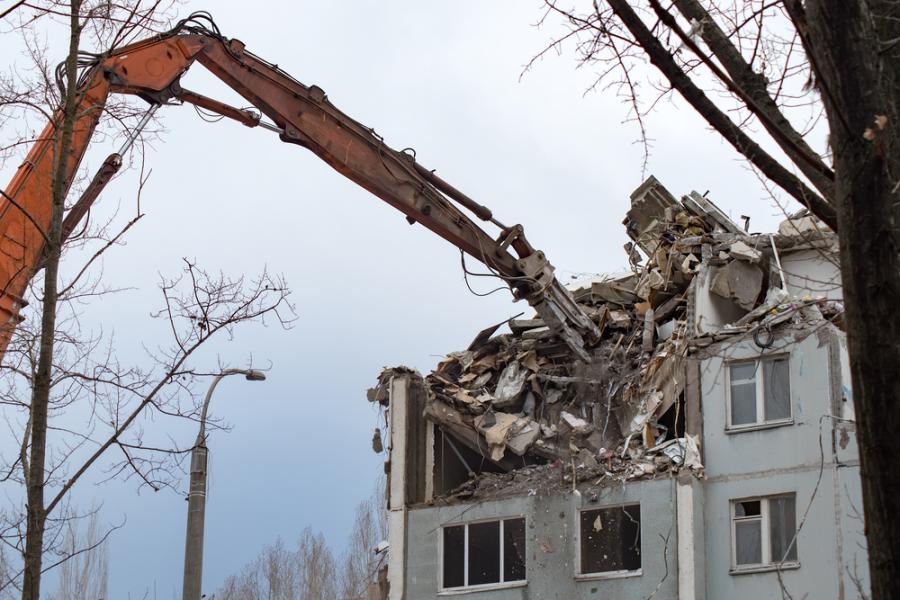 Rozbiórka domu, katastrofa,