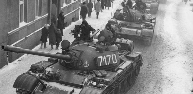 Czołg T-55 ludowe Wojsko Polskie stan wojenny