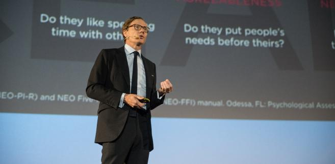 Alexander Nix z Cambridge Analytica podczas Forum IAB 2017.