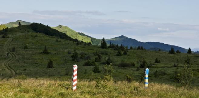Polsko-ukraińska granica w Bieszczadach