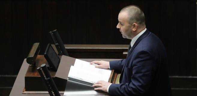 Zastępca szefa Kancelarii Prezydenta RP Paweł Mucha w Sejmie.