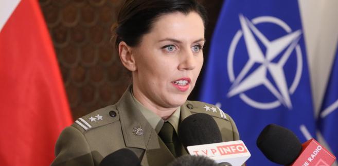 Rzecznik MON major Anna Pęzioł-Wójtowicz