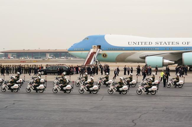 Air Force One na lotnisku w Pekinie