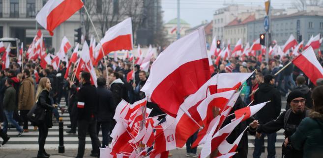 """Prezes stowarzyszenia Marsz Niepodległości pytany w TOK FM, czy wybiera się na marsz, który organizuje rząd, odpowiedział: """"ja idę na marsz, który organizuje stowarzyszenie Marsz Niepodległości, który się nazywa Marsz Niepodległości""""."""