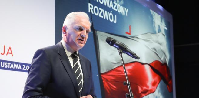 """Wicepremier podkreślił, że wspólna deklaracja podpisana przez premierów to """"oręż dla polskiego państwa, dla wszystkich kolejnych rządów""""."""