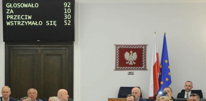 Wynik głosowania. Senat nie wyraził zgody na zarządzenie przez prezydenta referendum ws. konstytucji.