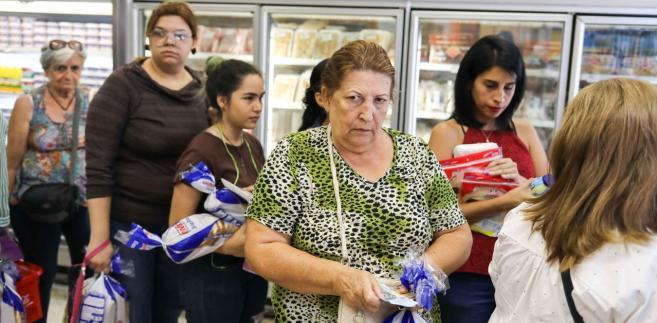 Wenezuela, kolejka w hipermarkecie