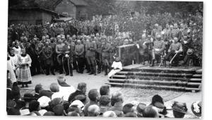 Prezydent Stanisław Wojciechowski na Wawelu, Kraków 1925 r.