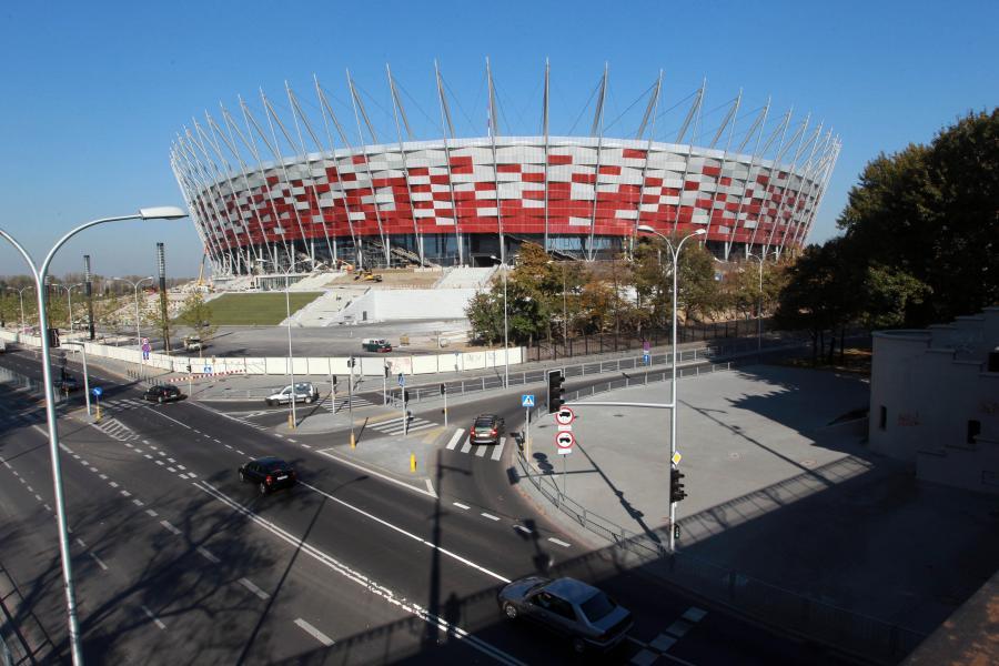 Stadion Narodowy w Warszawie. Zdjęcie z dnia 18 października  2011 roku