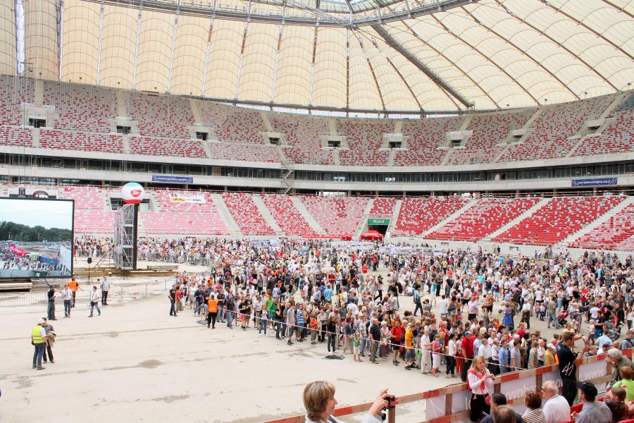 Stadion Narodowy w Warszawie. Zdjęcie z dnia 24 lipca 2011 roku