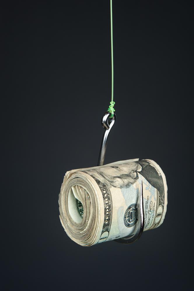 haczyk, pieniądze