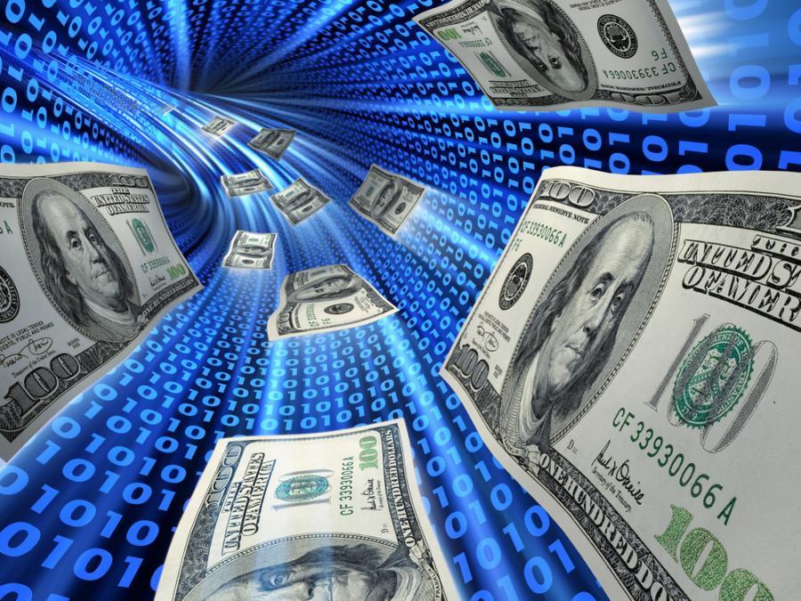dolary, pieniądze, transfer